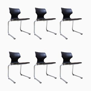 Vintage Stackable Dining Chairs from Flötotto, 1980s, Set of 7