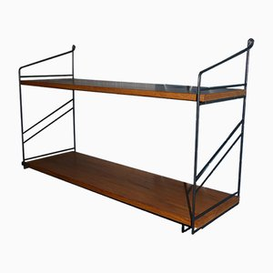 Mid-Century Wooden Wall Shelf