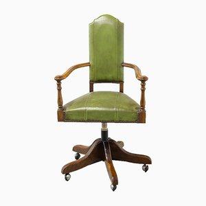 Chaise de Bureau Pivotante Style Victorien, années 70