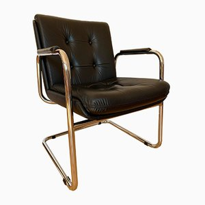 Italian Tubular Steel Armchair from Vaghi, 1990s
