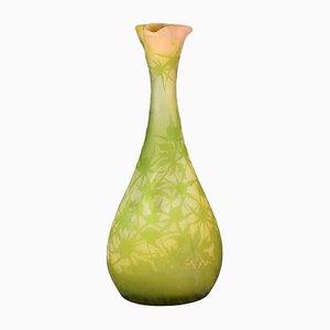 Grand Vase Floral Ancien par Emile Gallé