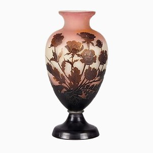 Antique Flower Vase by Emile Gallé