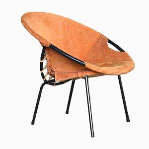 Mid-Century Circle Balloon Chair von Lusch Erzeugnis für Lusch & Co, 1960er