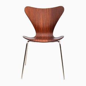 Mid-Century Danish Mahogany Dining Chair by Arne Jacobsen for Fritz Hansen