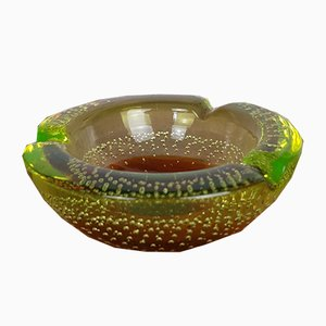 Uranium Glass Ashtray, 1970s