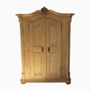 Antique Wilhelminian Softwood Wardrobe