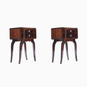 Vintage Rosewood Night Stands, Set of 2