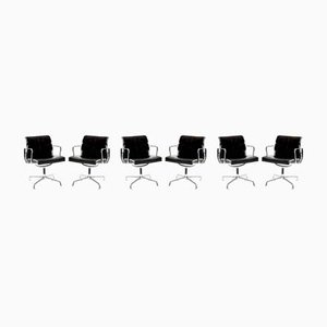 Mid-Century EA 208 Soft Pad Desk Chairs by Charles & Ray Eames for Vitra, Set of 6