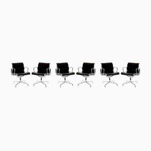 Mid-Century EA 208 Soft Pad Schreibtischstühle von Charles & Ray Eames für Vitra, 6er Set