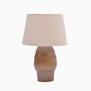 Danish Stoneware Table Lamp from Søholm, 1970s
