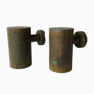 Vintage Swedish Copper Outdoor Wall Lights from Fagerhult, 1960s, Set of 2