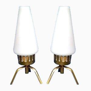 Lampade da tavolo piccole di Angelo Lelli per Arredoluce, anni '50, set di 2