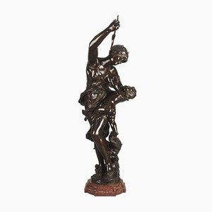 Antique Venus & Cupid Sculpture by J. Sul-Abadie