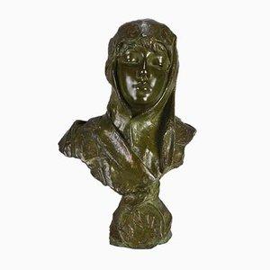 Antique Art Nouveau Dalila Sculpture by Emmanuel Villanis