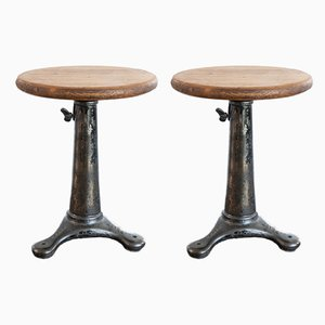 Vintage Industrial Stools from Pfaff, Set of 2