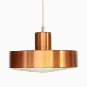 Swedish Copper Colored Aluminum Pendant Lamp from ASEA, 1960s