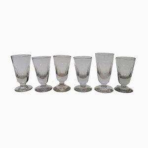 Antike Französische Weingläser, 6er Set