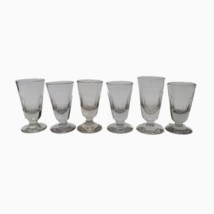 Antique French Wine Glasses, Set of 6