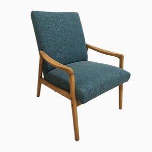 Mid-century Blue Czech Armchair, 1960s