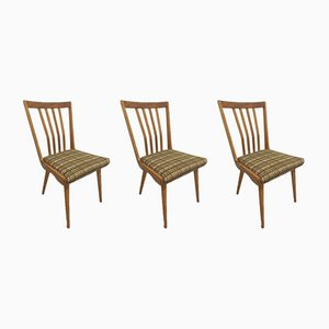 Chaises de Salon Tchèques, années 60, Set de 3
