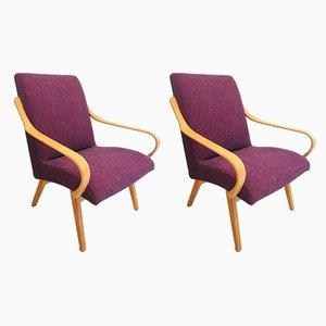 Vintage Sessel von Jaroslav Smidek für Ton, 2er Set