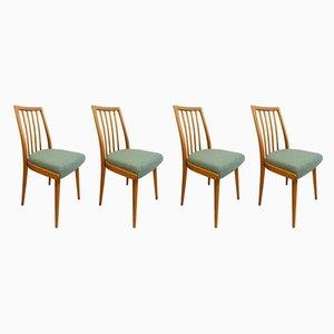 Chaises de Salon Tchèques Bleu Clair, Set de 4