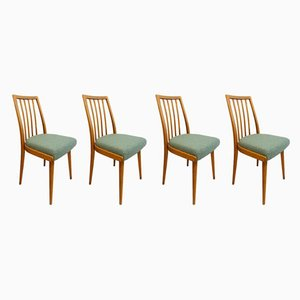 Light Blue Czech Dining Chairs, Set of 4