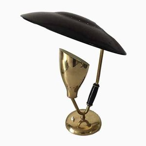 Swedish Brass & Steel Table Lamp, 1950s