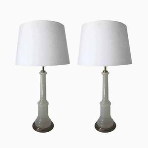 Art Deco Swedish Glass Table Lamps by Josef Frank for Svenskt Tenn, 1930s, Set of 2