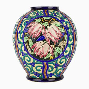 Art Deco Vase by Raymond Chevalier for Boch Frères, 1941