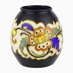 Matte Enamelled Vase by Charles Catteau for Boch Frères, 1929