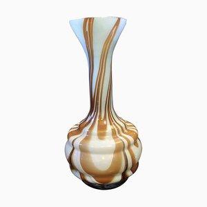 Jarrón italiano Mid-Century de vidrio opalino de Carlo Moretti, años 70