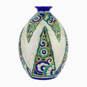 Vase von Charles Catteau für Boch Frères, 1927