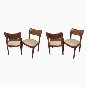 Vintage Solid Teak Ole Dining Chairs from Koefoeds Hornslet, 1970s, Set of 4
