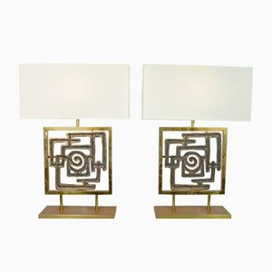 Italian Table Lamps by Luciano Frigerio, 1970s, Set of 2