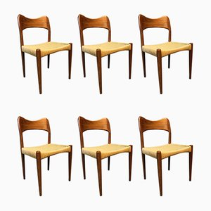 Dining Chairs by Arne Hovmand-Olsen for Mogens Kold, 1960s, Set of 6