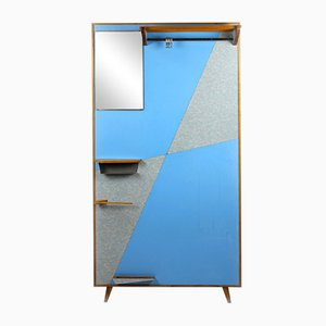 Support d'Entrée Vintage Géométrique Bleu et Gris de Drevokov Blatna, 1966