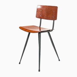 Silla auxiliar industrial vintage, años 50