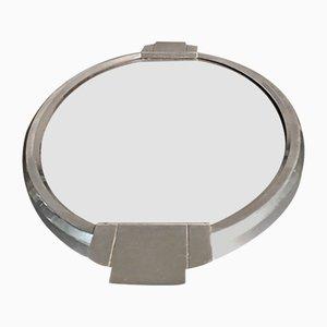 Amerikanischer Spiegel mit silbernem Rahmen, 1930er