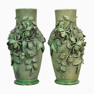 Antique Ceramic Vases, Set of 2