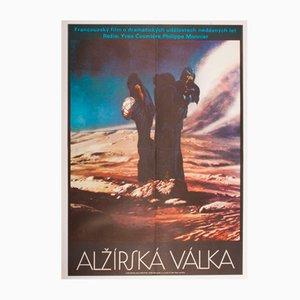 Poster vintage del film The Algerian War di Josef Vyleťal, Repubblica Ceca, 1974