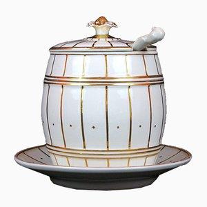 Antique Punch Bowl Set from Karl Krister Porzellanmanufaktur, 1850s