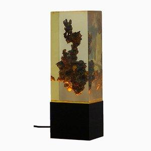 Lampada da tavolo vintage in resina