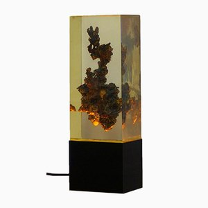 Lámpara de mesa vintage con resina