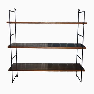 Mid-Century Walnut Wall Shelf
