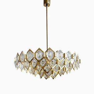 Lámpara de araña Crystal Bead de Kamenický Šenov, años 60