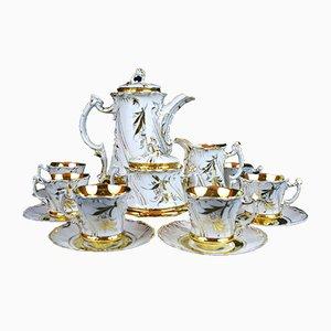 Antique Viktoria Coffee Service Set from Carl Tielsch Porzellanmanufaktur