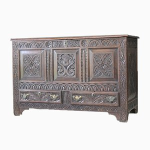 Antique Carved Oak Mule Dresser