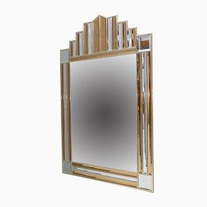 Specchio in vetro colorato di Schöninger, anni '70