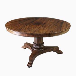 Mesa de comedor antigua de palisandro